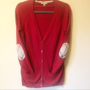 Burberry Cashmere Blend Parade Red Cardigan